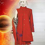 Одежда ручной работы. Ярмарка Мастеров - ручная работа Комплект пальто и платье Космея. Handmade.