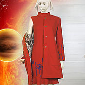 Одежда handmade. Livemaster - original item Set coat and dress Kosmeya. Handmade.