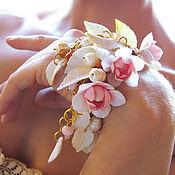Украшения ручной работы. Ярмарка Мастеров - ручная работа Цветочный каскадный браслет. Handmade.