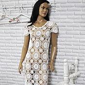 Одежда ручной работы. Ярмарка Мастеров - ручная работа Платье вязаное,крючком. Handmade.