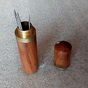 Игольницы ручной работы. Ярмарка Мастеров - ручная работа Пенал для хранения иголок. Handmade.