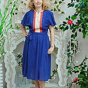 Одежда handmade. Livemaster - original item Dress crinkled cotton dress Orchid Vanda. Handmade.