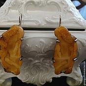 """Украшения ручной работы. Ярмарка Мастеров - ручная работа Янтарь Серьги """" Сахарные дольки апельсина"""". Handmade."""