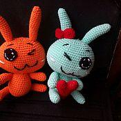 Куклы и игрушки ручной работы. Ярмарка Мастеров - ручная работа Зайка + зайка. Handmade.