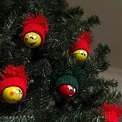 """Подарки к праздникам ручной работы. Ярмарка Мастеров - ручная работа Набор игрушек на елку """"Смайл"""". Handmade."""