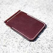 Сумки и аксессуары handmade. Livemaster - original item Horween chromexcel Tan Leather moneyclip wallet. Handmade.
