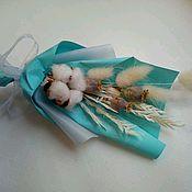Букеты ручной работы. Ярмарка Мастеров - ручная работа Бутоньерка из сухоцветов. Handmade.