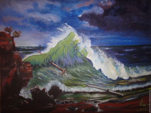 После шторма море успокаивается, вынося на берег обломки кораблей...