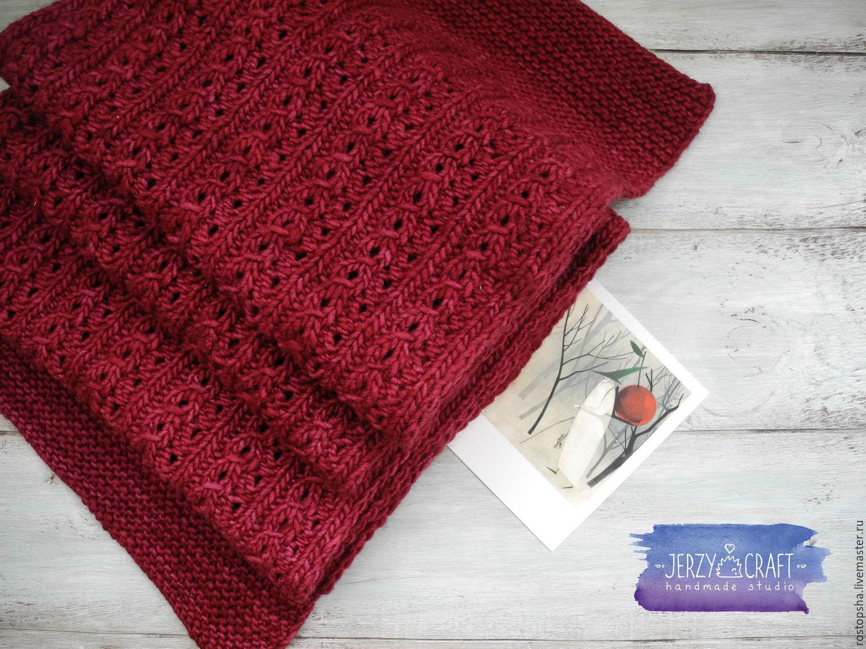 Вязание спицами французский шарфик