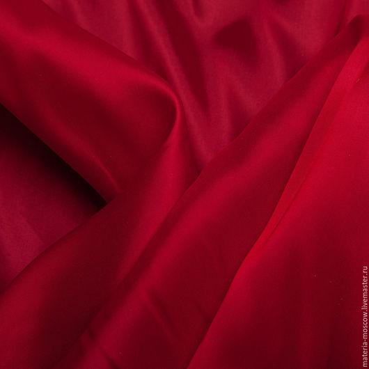 Шитье ручной работы. Ярмарка Мастеров - ручная работа. Купить Подкладочная ткань стретч (красный). Handmade. Ярко-красный, подкладка