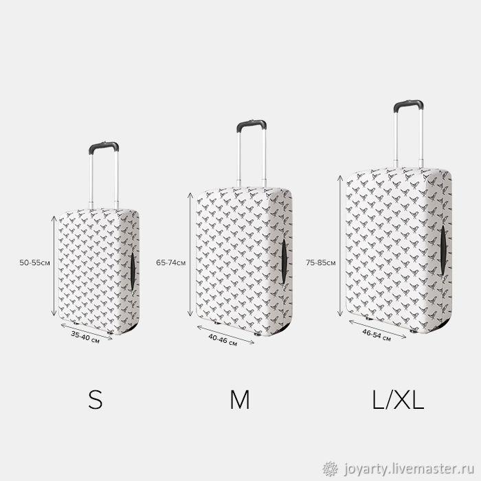 Чехол для чемодана «Арбуз на серфе» (S,M,L/XL)