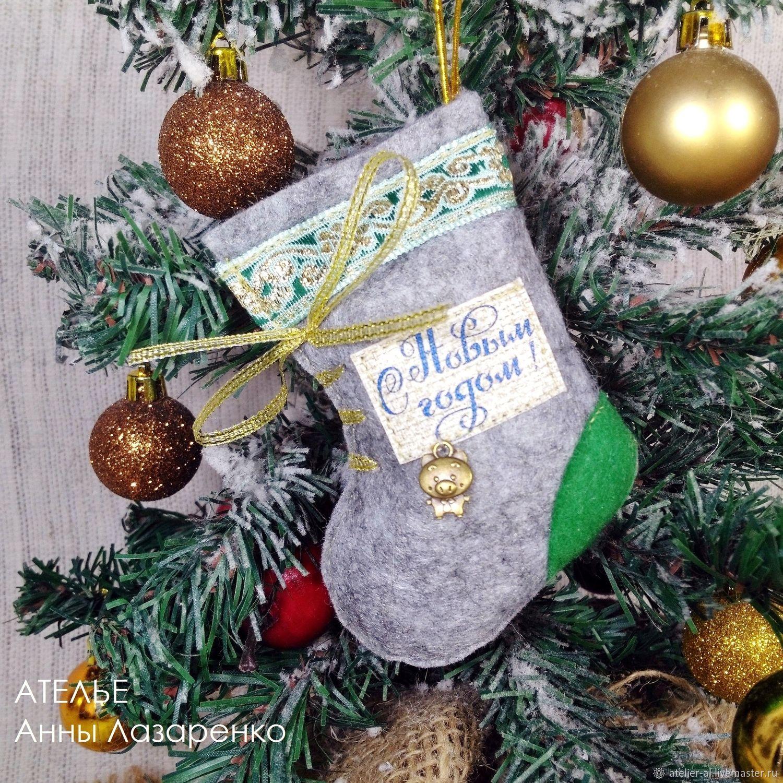 Boots 10cm (needles) Christmas souvenir – shop online on Livemaster ...
