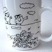 Посуда ручной работы. Ярмарка Мастеров - ручная работа Кружка Simon`s cat. Handmade.