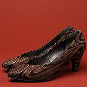 Обувь винтажная ручной работы. Ярмарка Мастеров - ручная работа Винтажные туфли оригинальной расцветки. Handmade.
