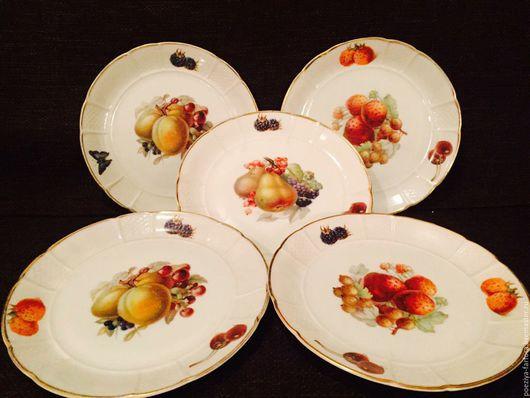 Винтажная посуда. Ярмарка Мастеров - ручная работа. Купить Десертные тарелки Розенталь. Handmade. Комбинированный, фарфор