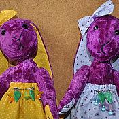 Куклы и игрушки ручной работы. Ярмарка Мастеров - ручная работа Зайки Сиренька и Фиалочка. Handmade.