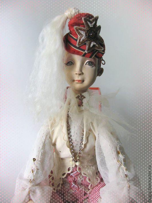 Коллекционные куклы ручной работы. Ярмарка Мастеров - ручная работа. Купить Прис. Handmade. Белый, авторская кукла, дерево, бархат