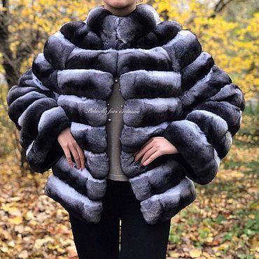 Одежда ручной работы. Ярмарка Мастеров - ручная работа Шуба- жилет из шиншиллы. Handmade.