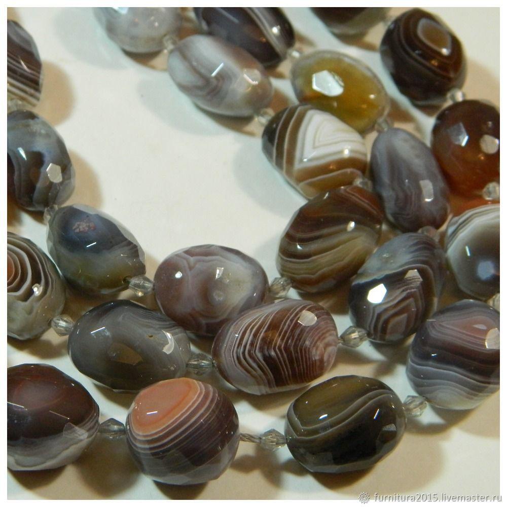 Agate Botswana Brazil, rare Chalcedony. Thread, Beads1, Saratov,  Фото №1