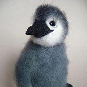 """Куклы и игрушки ручной работы. Ярмарка Мастеров - ручная работа Игрушка из шерсти """"Королевский пингвинёнок"""". Handmade."""