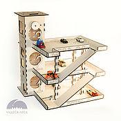 Куклы и игрушки handmade. Livemaster - original item Parking (garage) for cars. Handmade.