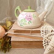 """Посуда ручной работы. Ярмарка Мастеров - ручная работа чайничек"""" Freshness"""". Handmade."""