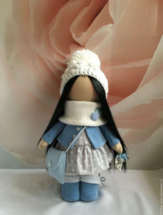 Коллекционные куклы ручной работы. Ярмарка Мастеров - ручная работа. Купить Кукла текстильная ручной работы Kristi.. Handmade. Голубой