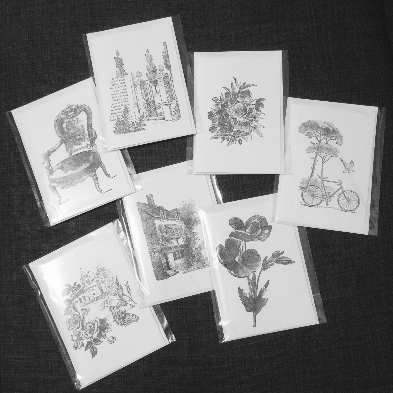 Набор открыток черно белые