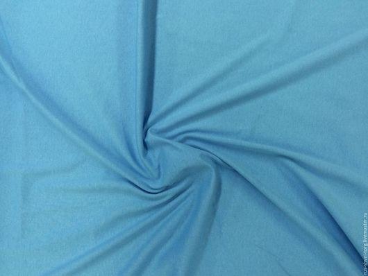 Трикотаж `Кулирка`  цвет `Голубой`