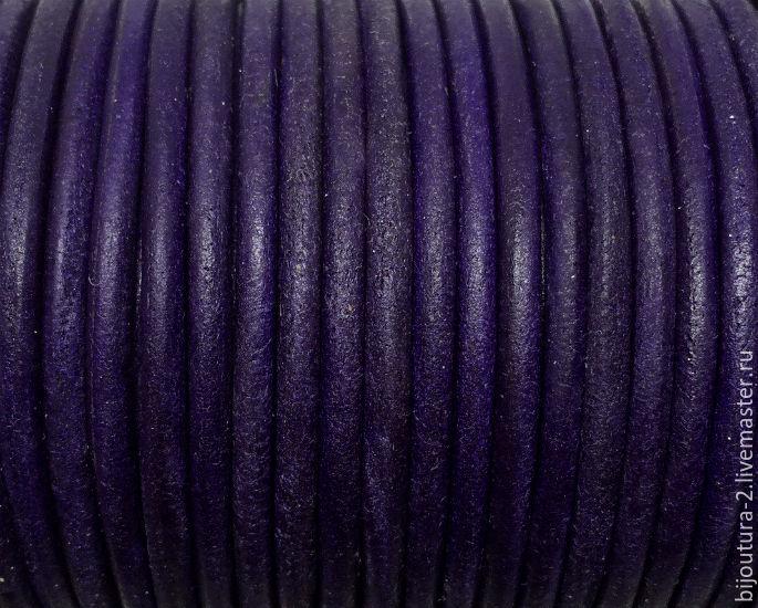 Для украшений ручной работы. Ярмарка Мастеров - ручная работа. Купить Шнур кожаный (арт.к81) 3 мм, античный/винтажный. Handmade.