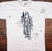 Одежда ручной работы. Ярмарка Мастеров - ручная работа Роспись футболок и не только.. Handmade.