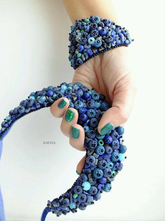 """Колье, бусы ручной работы. Ярмарка Мастеров - ручная работа. Купить Колье   """"Осеннее небо"""". Handmade. Синий, натуральные камни"""