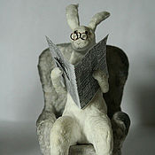 Куклы и игрушки ручной работы. Ярмарка Мастеров - ручная работа Деловитый Заяц. Handmade.