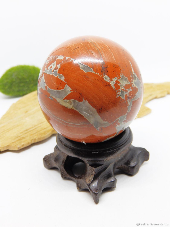 A ball of red Jasper 47 mm, Ball, Gatchina,  Фото №1