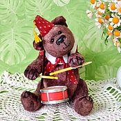 Куклы и игрушки handmade. Livemaster - original item Teddy Bears: Mishka-the drummer. Handmade.