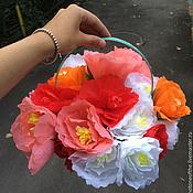Цветы ручной работы. Ярмарка Мастеров - ручная работа Корзина с цветами. Handmade.