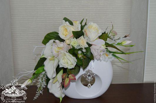 Леди в белом`интерьерные  композиции ручной работы. Ярмарка Мастеров- ручная работа. Купить Интерьерная композиция Леди в белом. Handmade.