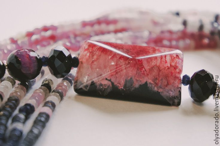 necklace of agate, Necklace, Moscow,  Фото №1