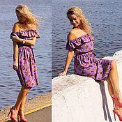 Одежда ручной работы. Ярмарка Мастеров - ручная работа Платье Мариэль - платье короткое / платье летнее. Handmade.