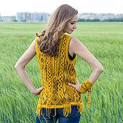"Одежда handmade. Livemaster - original item Felted vest ""Hippie-chic"". Handmade."