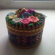 шкатулка ручной работы из атлас