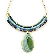 Украшения handmade. Livemaster - original item Chain necklace, pendant necklace, lapis lazuli necklace Ireland. Handmade.