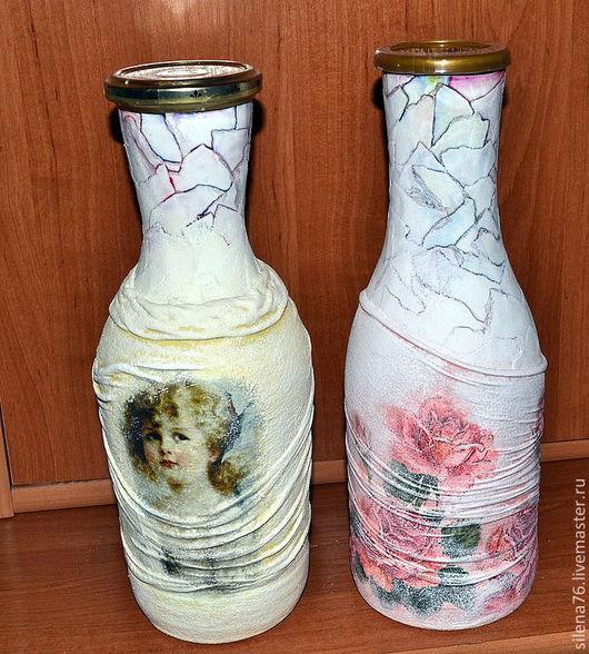 Персональные подарки ручной работы. Ярмарка Мастеров - ручная работа. Купить В подарок дамам декорированная бутылка любимого напитка. Handmade.