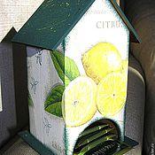 """Для дома и интерьера ручной работы. Ярмарка Мастеров - ручная работа Чайный домик """"Лимончики"""". Handmade."""