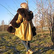 """Одежда ручной работы. Ярмарка Мастеров - ручная работа Куртка-парка """" Чистое золото """". Handmade."""