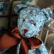 Куклы и игрушки ручной работы. Ярмарка Мастеров - ручная работа Тильда мишка Бирюза и шоколад. Handmade.