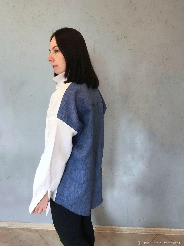 0080376825d Блузки ручной работы. Ярмарка Мастеров - ручная работа. Купить Льняная  рубашка. Handmade.