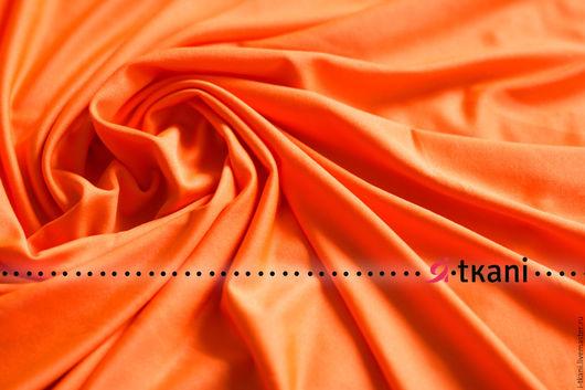001-405а.14 Масло `холодное`(с умеренным блеском). Цвет оранжевый неон.  95%пэ, 5%эластан 330г/мп(220г/м2) Ширина 140см. 420руб