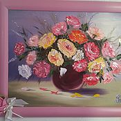 Картины и панно ручной работы. Ярмарка Мастеров - ручная работа Очень красивые розочки. Handmade.