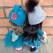 Куклы и игрушки ручной работы. Ярмарка Мастеров - ручная работа Кнопочка брюнетка. Handmade.